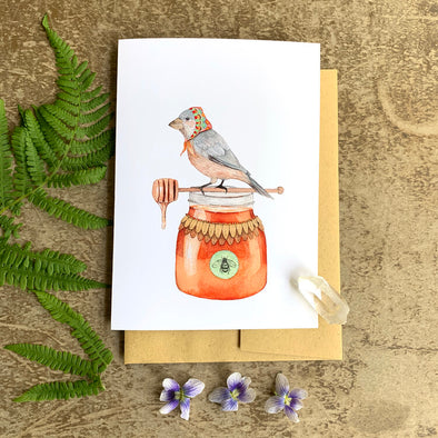Woodland Kitchen: Jozefa the Honey Bird - Greeting Card