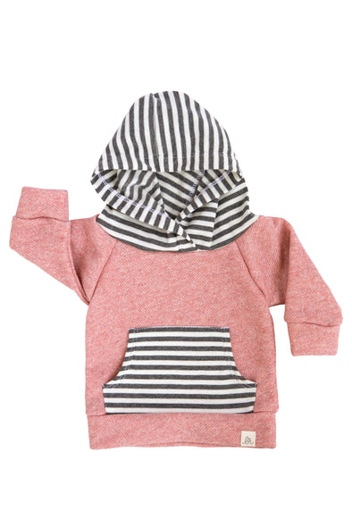 Dusty Rose and Stripe Kids Hoodie