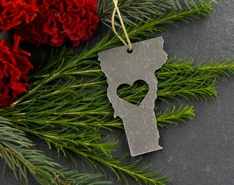 Vermont Metal Ornament