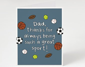 Great Sport - Father's Day Card