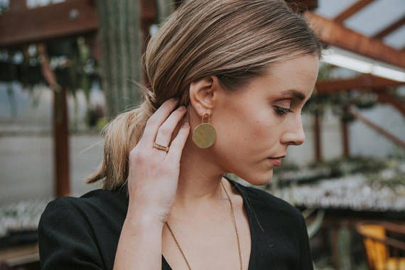Mini Dillan Brass Earrings
