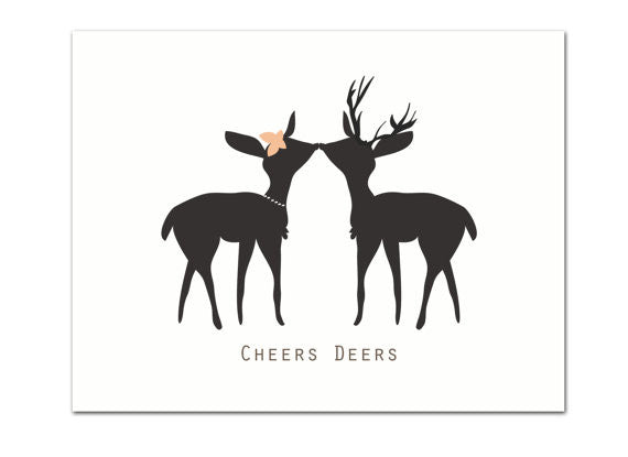 Cheers Deers Wedding / Anniversary Greeting Card