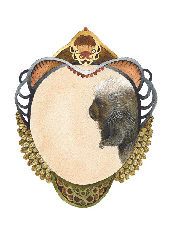 Quilted Portrait: The Porcupine - Art Print
