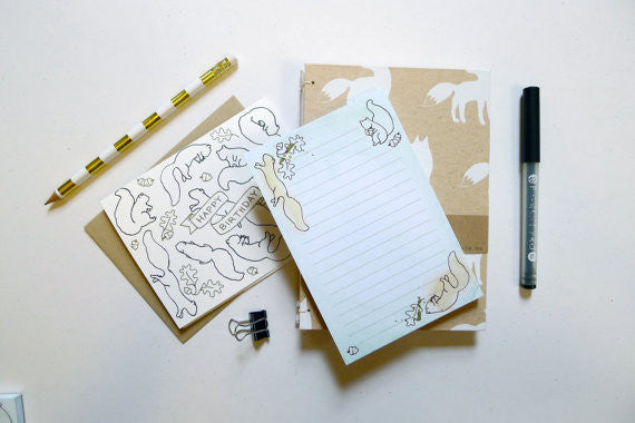 Squirrel Notepad // by Middle Dune