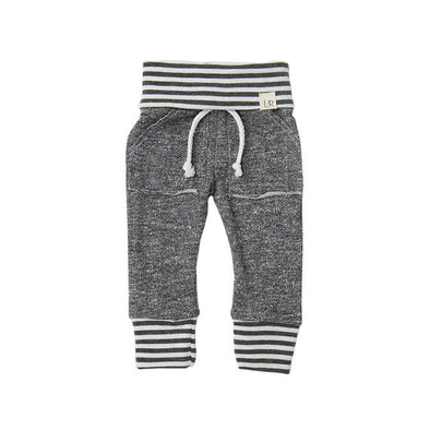 Dark Grey Stripe Baby Sweatpants