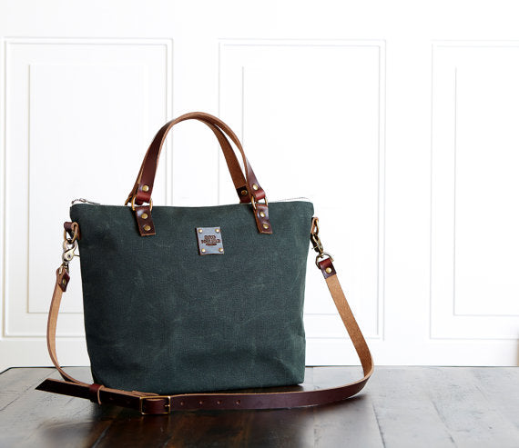 Waxed Canvas Cross Body Bag