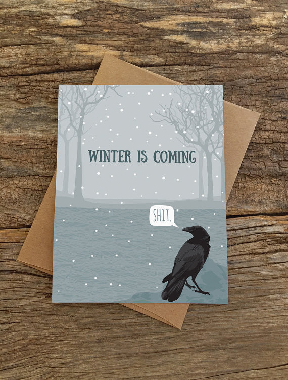 Winter is Coming Raven Card