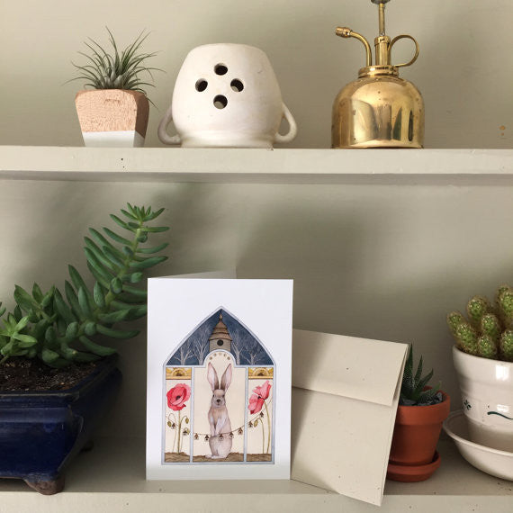 A Poppy Home - Greeting Card