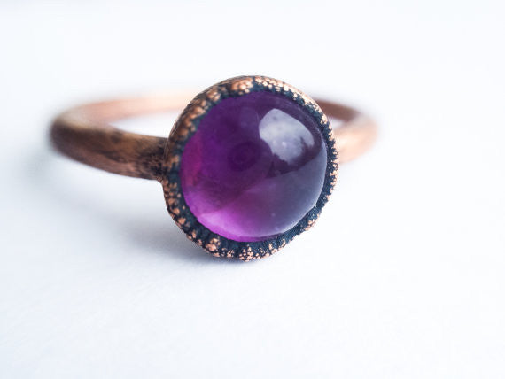 Amethyst Orb Ring