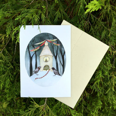Yuletide Crows - Greeting Card