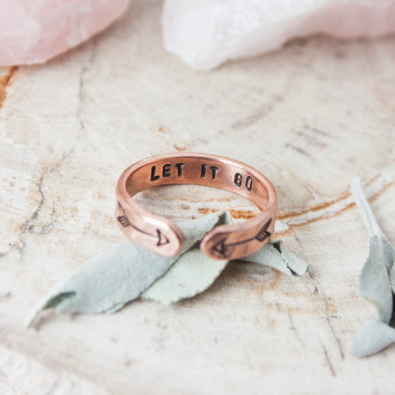 Let it Go // Copper Cuff Ring