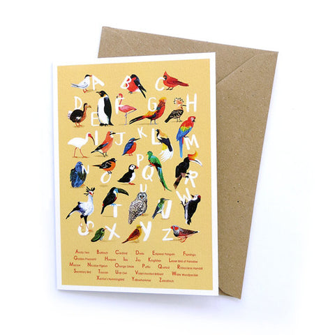 Avian Alphabet Card