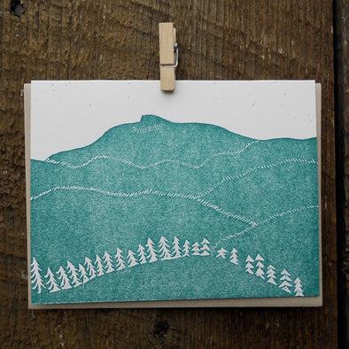 Camel's Hump Holiday Letterpress Card
