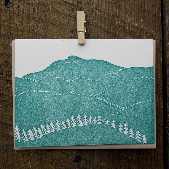 Camel's Hump Letterpress Card