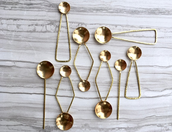 Deluxe Brass Salt Spoon