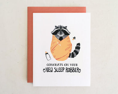 Congrats on Your New Sleep Robber! Baby Card