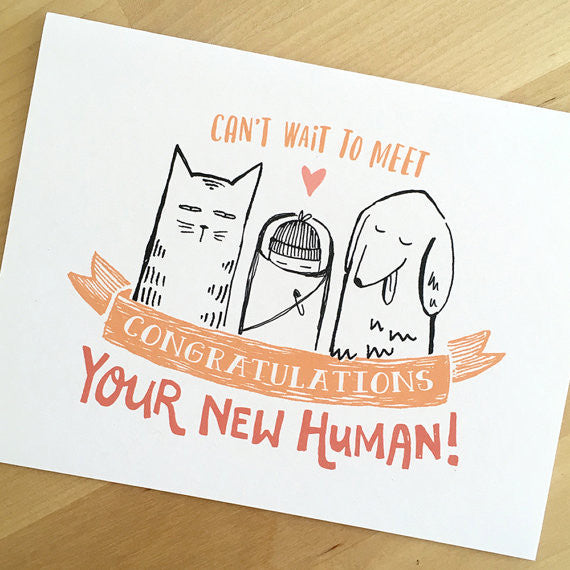 Congratulations On Your New Human! Baby Card