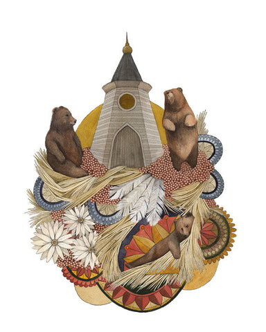 House of Bear // 8x10 Art Print // by Polanshek of the Hills