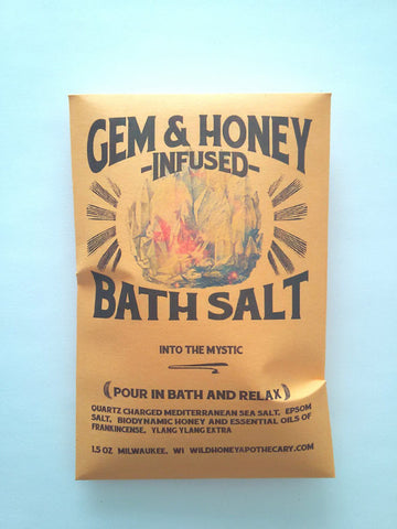 Into the Mystic Gem + Honey Infused Bath Salts