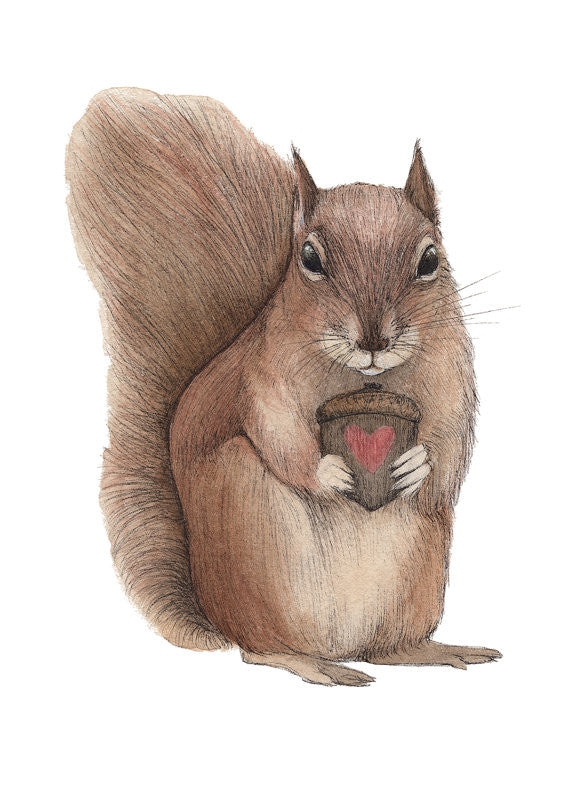 Nutty Love - Art Print