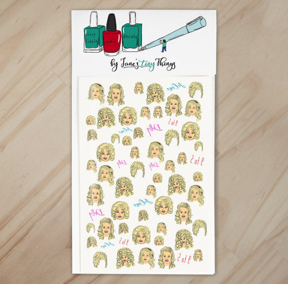Dolly Parton Nail Art Decal