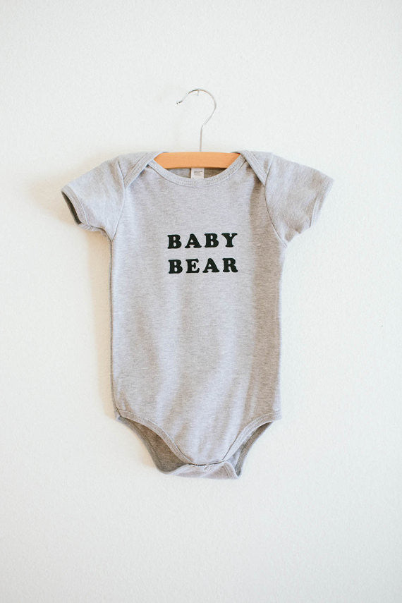 Baby Bear Onesie - Heather Grey