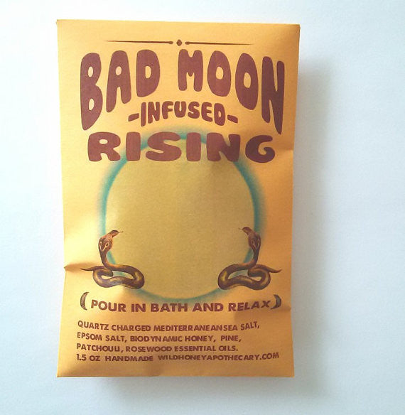 Bad Moon Rising Gem + Honey Infused Bath Salts