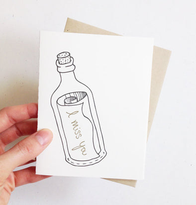 Message in a Bottle Card // by Middle Dune