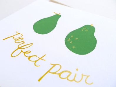 Perfect Pair Wedding Card // by Middle Dune