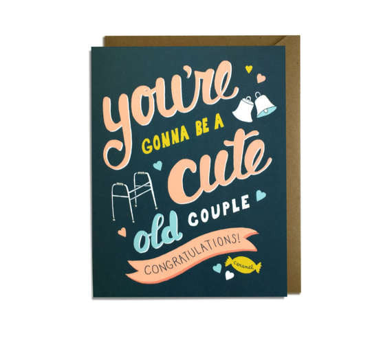 You're Gonna Be a Cute Old Couple Card