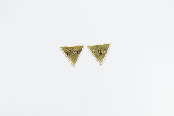 Stay Wild Triangle Studs