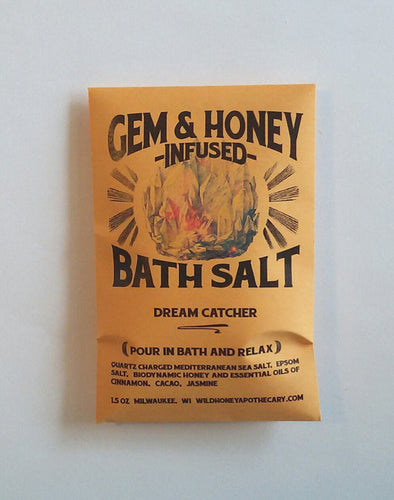 Dream Catcher Gem + Honey Infused Bath Salts