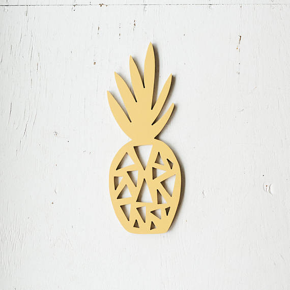 Pineapple Wooden Cut Out