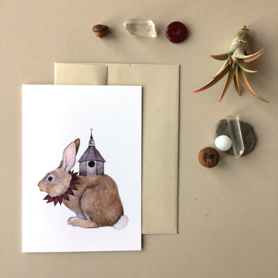 A Bunny Home - Greeting Card
