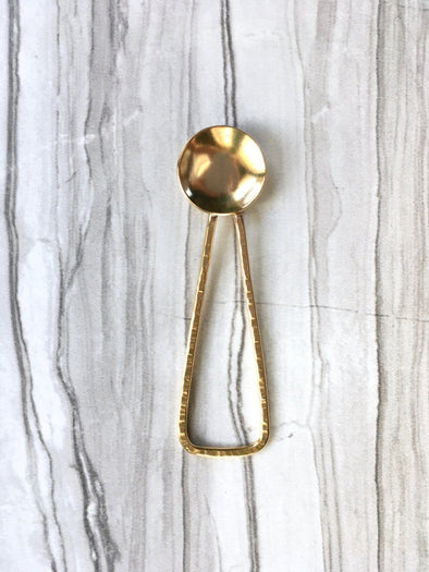 Deluxe Brass Mini Salt Spoon - WATERBURY