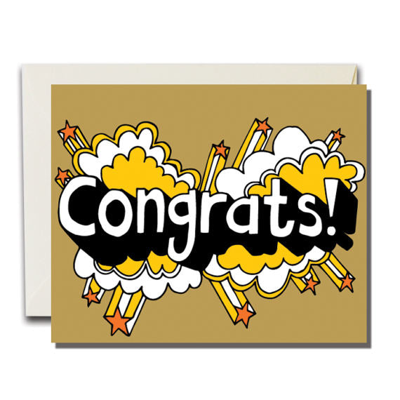 Congrats Power Pop Greeting Card