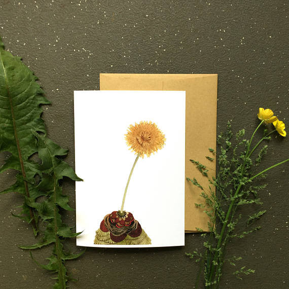 Quilted Dandelion - Greeting Card