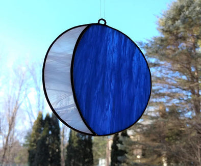 Stained Glass Crescent Moon