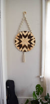 Wood and Macrame Wall Hanging -   // by Roaming Roots Studio