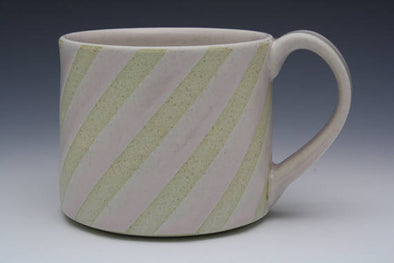 Pink Diagonal Stripes Mug