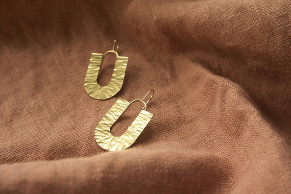 Leola Brass Earrings