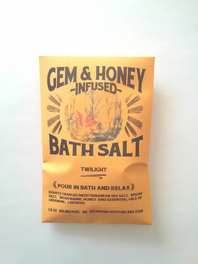 Twilight Bath Salt Quartz Charged Honey Infused Bath Salts