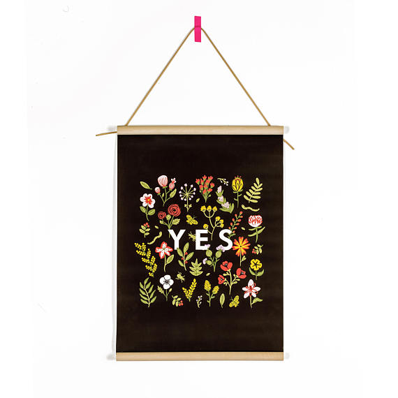 The Magic Word - Yes Canvas Banner