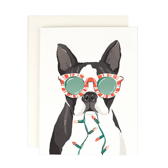 Boston Terrier Holiday Card Boxed Set