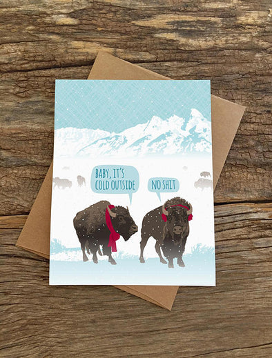 Baby It's Cold Bison Card Boxed Set