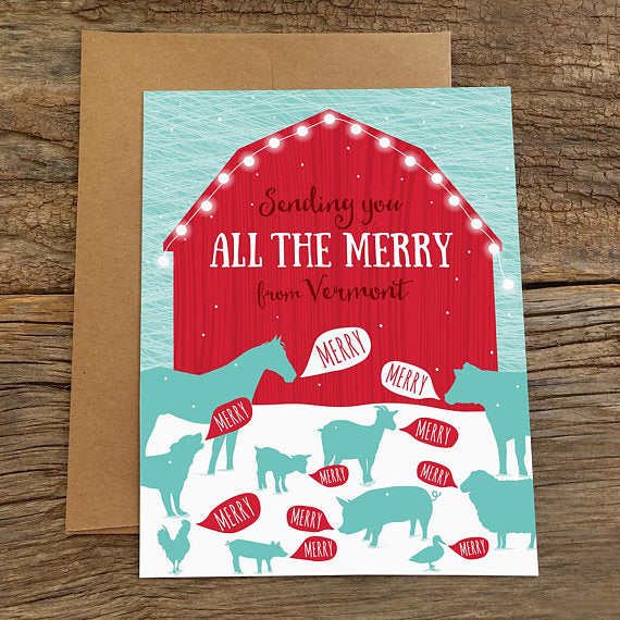 All the Merry from Vermont Greeting Card