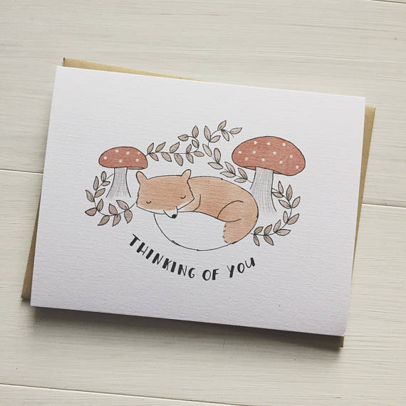 Thinking of You Fox Greeting Card Box Set