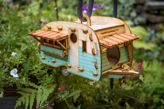 Vintage Camper Bird House Kit