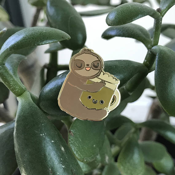 Frothy and Slothy Pin