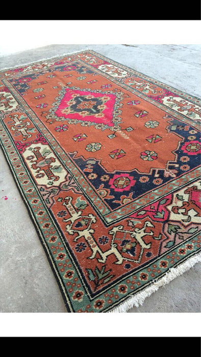 Vintage Handmade Turkish Rug $550